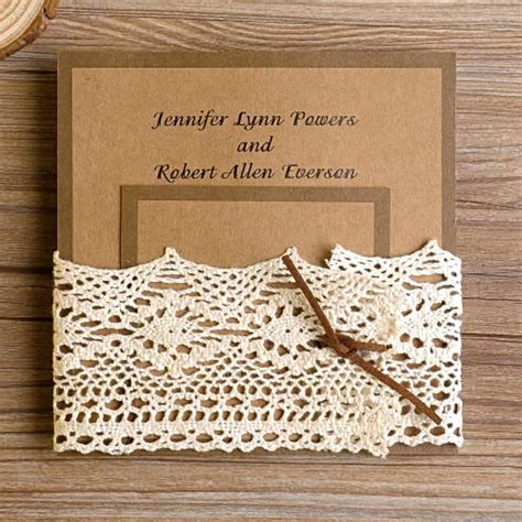 country elegance wedding invitations rustic lace wedding invitations at elegantweddinginvites