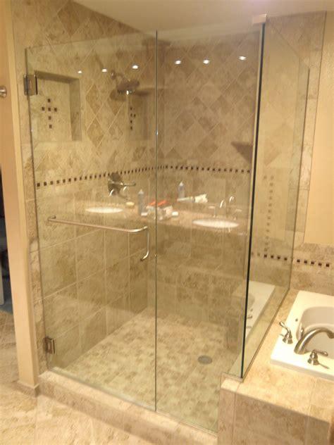 Custom 3 8 Quot Heavy Glass Shower Door Brushed Nickel Glass Shower Door Towel Bar