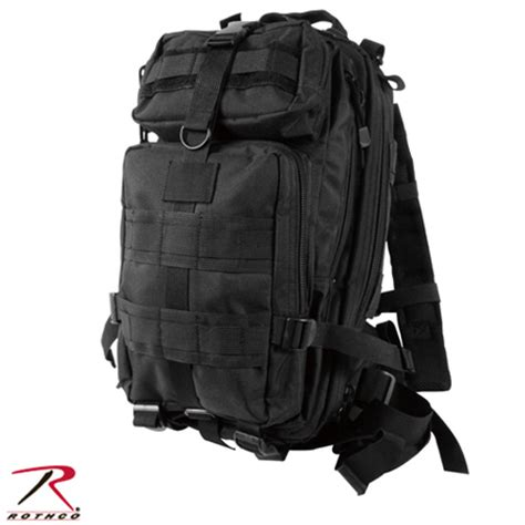 army backpack black style compact transport backpack black rothco