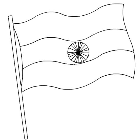 National Bird Of India Outline by Indian Flag Coloring Page Coloring Home