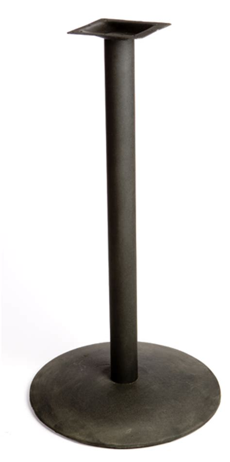 bar table tops and bases black sted steel round bar height base orbb restaurant