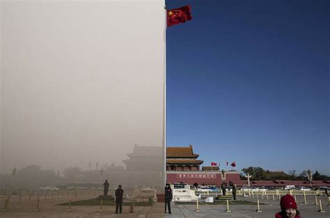 startling before and after photos of beijing s pollution