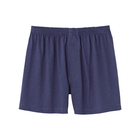 knit boxer shorts uniqlo knit stripe boxer shorts in blue for lyst