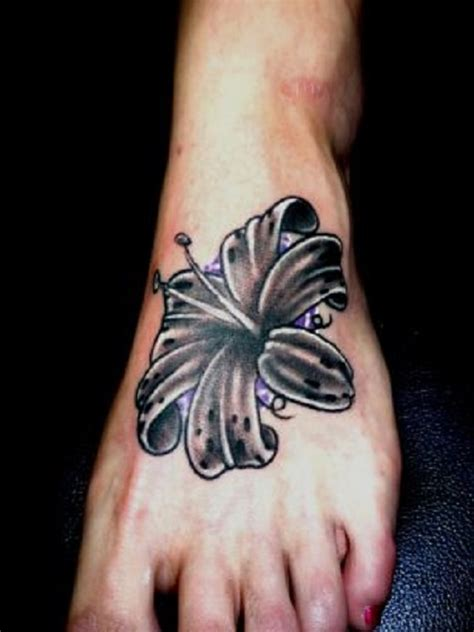 lily ankle tattoo designs 60 tattoos on foot with meaning