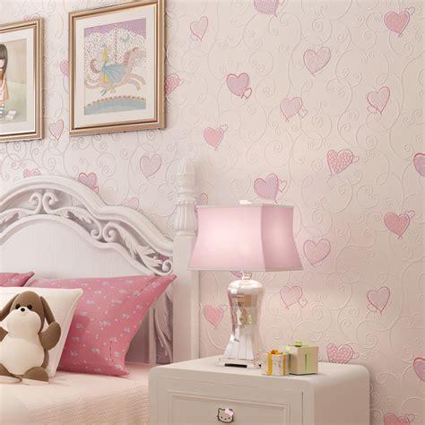 heart bedroom wallpaper 3d pink love heart cartoon princess girl room background