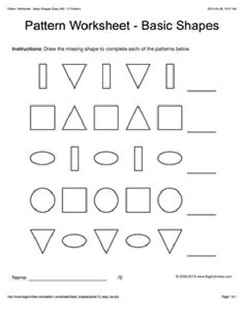 pattern challenge worksheet shapes space and patterns worksheets for grade 4