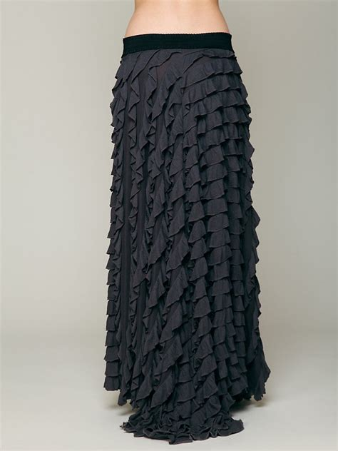 Maxi Lidia Import by Free Lydia Maxi Skirt In Black Lyst