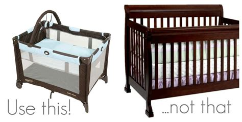 Pack N Play As A Crib by The Kitchen Living With Less Baby Stuff