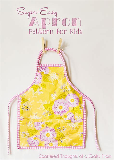 pattern for youth apron easy child s apron pattern and tutorial scattered
