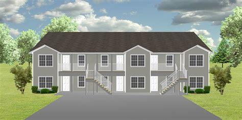 Cost To Build A 4 Plex Apartment Plan J1138 6 Plansource Inc