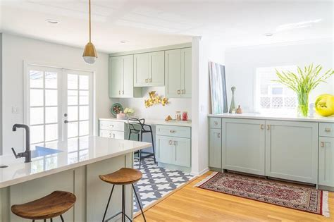 Mint Green Kitchen Cabinets by Mint Green Kitchen Cabinets Design Ideas