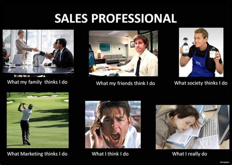 Sales Memes - for the sales professionals what people think i do