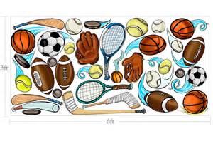 Baseball Murals For Walls muralistick com sports balls wall 1
