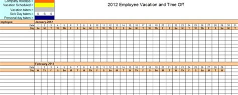 vacation calendar template 2014 employee vacation time tracking vacation time tracking