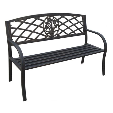 metal yard benches dc america daffodil 4 ft metal garden bench outdoor