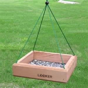 Hanging Bird Feeders Looker Products Setf0 Hanging Tray Bird Feeder Atg Stores