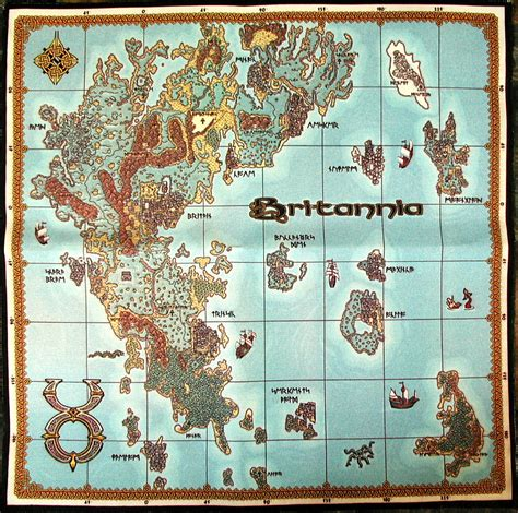 uo map computer museum display ultima charter edition