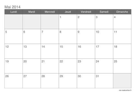 Calendrier De 2014 Calendrier Mai 2014 224 Imprimer Icalendrier