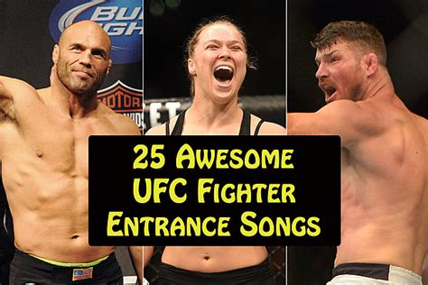 theme song ufc 25 awesome ufc fighter entrance songs