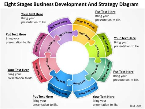 business diagrams business flow diagrams eight stages development and