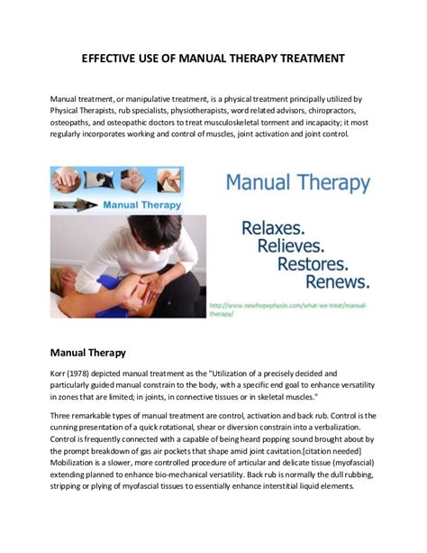 therapy manual traditional manual therapy treatment in brton mississauga