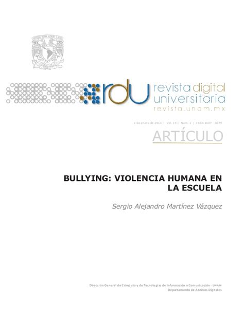 articulo bullying slideshare revista unam bullying violencia humana