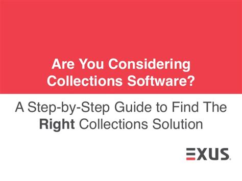 exus a step by step guide to find the right collections