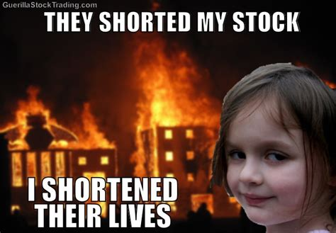 Stock Memes - disaster girl stock trading jokes meme 171 wall street