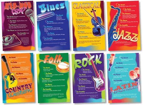 genre music music genres bulletin board set nst3059