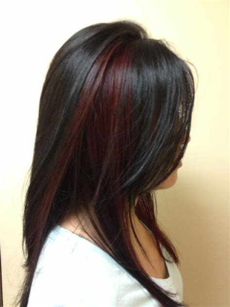 pictures of sapphire black hair with red highlights medium hairstyles with highlights and lowlights long bob