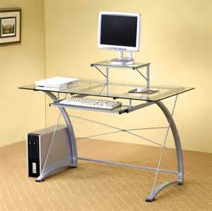 Home Office Desk Glass Top Contemporary Computer Desks For Home Office
