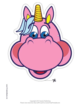 printable unicorn mask cute unicorn mask printable picture to pin on pinterest