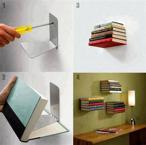 floating book shelf diy small builds pinterest
