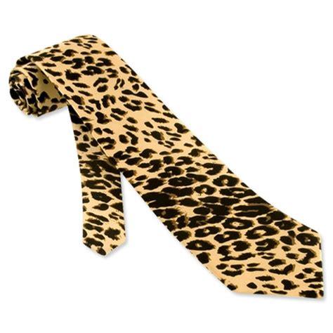 leopard silk tie necktie s animal print neck tie