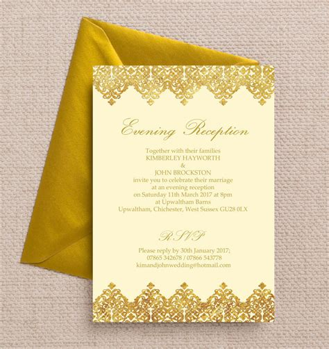 printable evening invitations top 10 printable evening wedding reception invitations