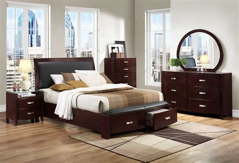 bed and bedroom furniture homelegance lyric platform bedroom set dark espresso