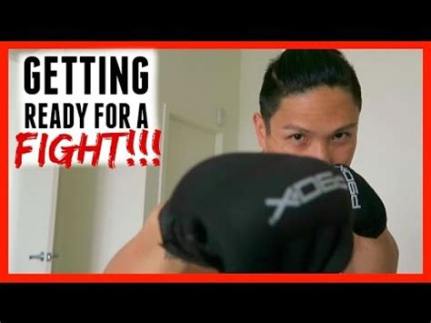 getting ready for getting ready for a fight