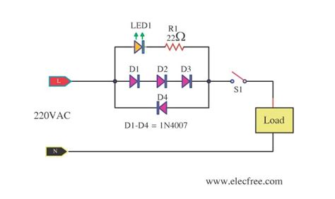 led indicator for remote ac loads circuit diagram world