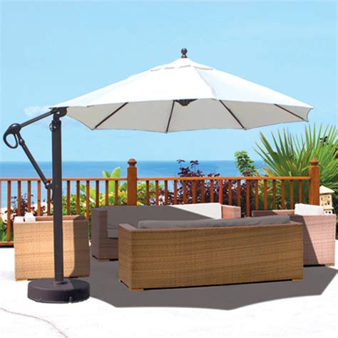 Patio Umbrella Fabric Galtech Aluminum 11 Cantilever Offset Patio Umbrella With Sunbrella Fabric Canopy