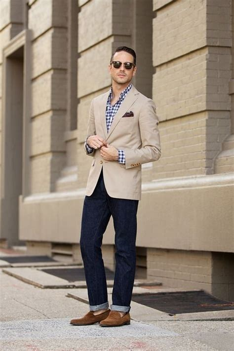 changing your fashion style to look great as a young gray haired woman beige jacket blue checkered shirt men s apparel