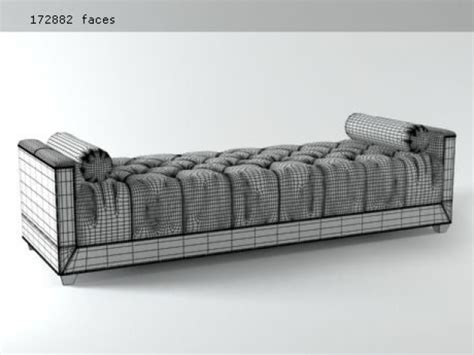 baker living room paris chaise lounge paris chaise lounge 3d model baker