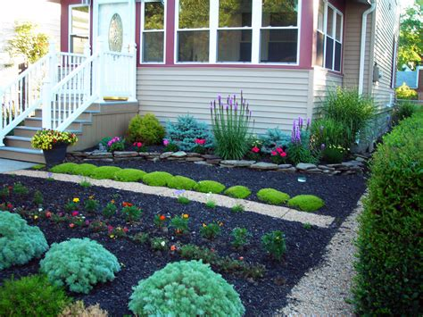 front yard landscaping no grass grassless yards make eggertsville property a mow free zone