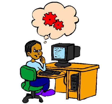 Dessin De Informaticien Pensant Colorie Par Membre Non