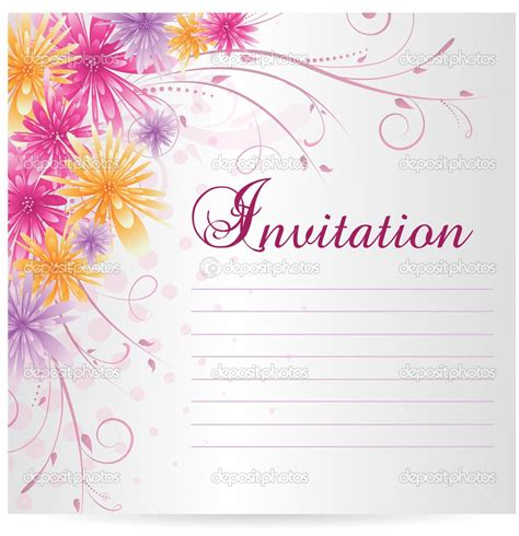 blank image invitation card template engagement invitation blank card