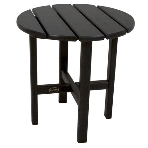 Black Patio Table Polywood 18 In Black Patio Side Table Rst18bl The Home Depot