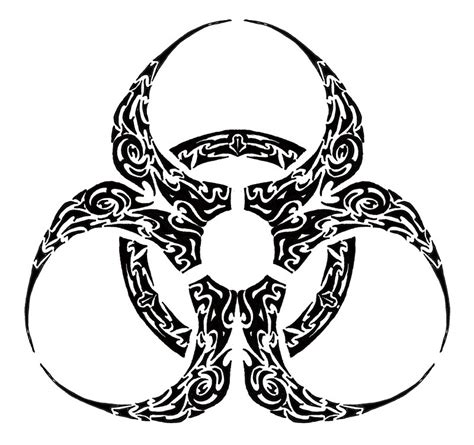 biohazard tribal tattoo biohazard tribal clipart best