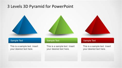 3 Levels 3d Pyramid Template For Powerpoint Slidemodel 3d Pyramid Powerpoint