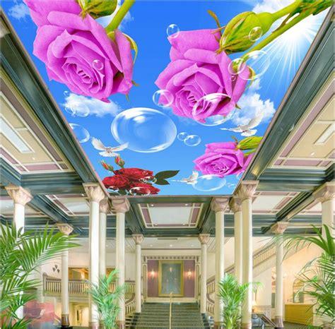 Wallpaper Gelombang Pink 10 Meter 45 Cm custom photo 3d ceiling murals wall paper blue sky