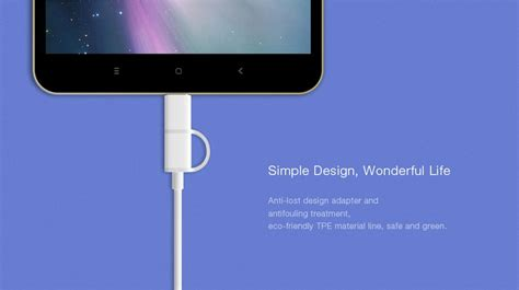 Official Xiaomi Type C Cable 2 official xiaomi 2 in 1 30cm type c micro usb cable