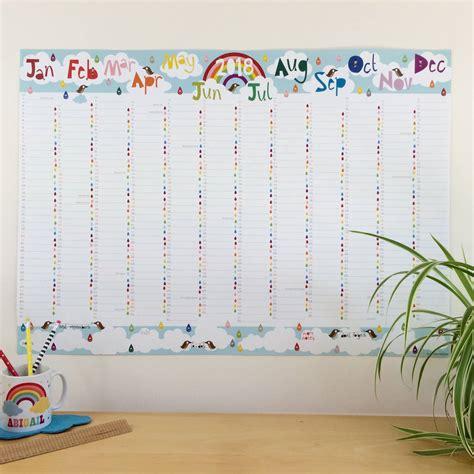 Calendar 2018 Wall Planner 2018 Large Rainbow Wall Planner Calendar By Halfpinthome